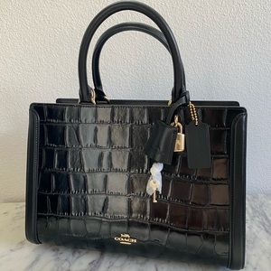 New Black Coach Zoe Carryall